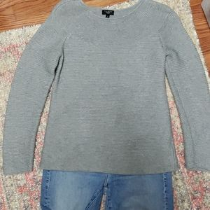 Talbots grey cabled sweater